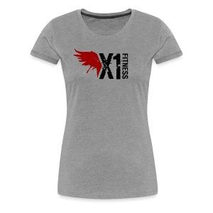 Women's X1 Fitness Tshirt, Light Gray - Women's Premium T-Shirt