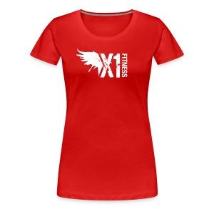 Women's X1 Fitness Tshirt, Red - Women's Premium T-Shirt