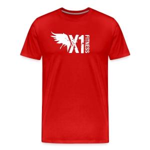 Men's X1 Fitness Tshirt, Red - Men's Premium T-Shirt