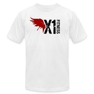 Men's X1 Fitness Tshirt, White - Men's Fine Jersey T-Shirt