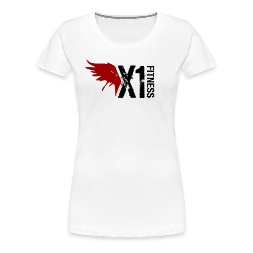 Women's X1 Fitness Tshirt, White - Women's Premium T-Shirt