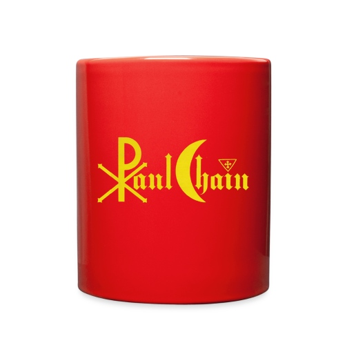 Paul Chain Coffee Mug ~ Yellow on Red - Full Color Mug
