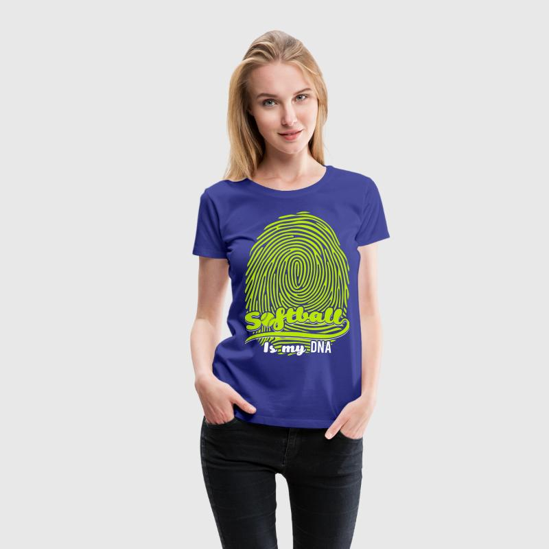 Softball is my DNA - Women's Premium T-Shirt