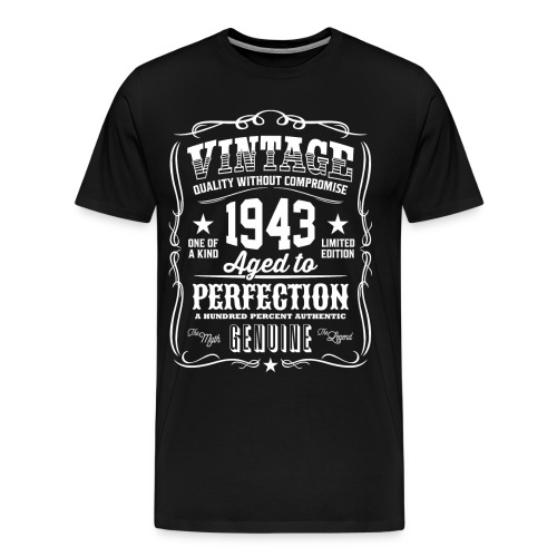 Vintage 1943 Aged to Perfection - Men's Premium T-Shirt