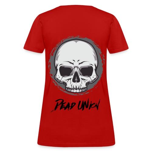 Dead Union Female T-Shirt (Back) - Women's T-Shirt