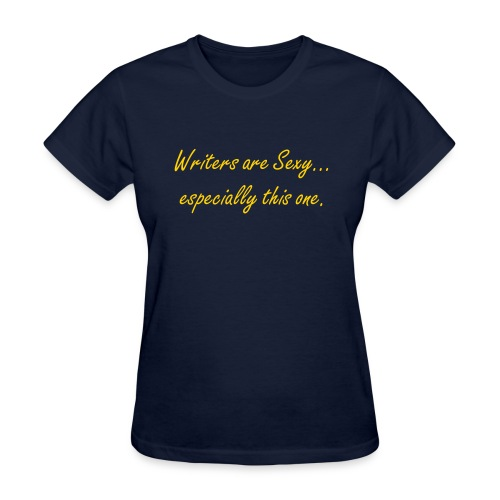Writers Are Sexy (In Dark Blue) - Women's T-Shirt