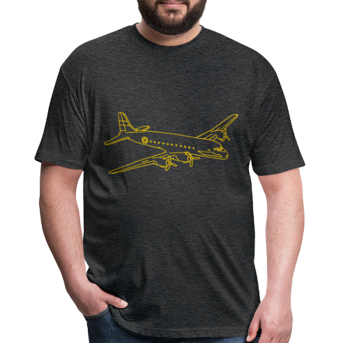 Airplane - Fitted Cotton/Poly T-Shirt by Next Level