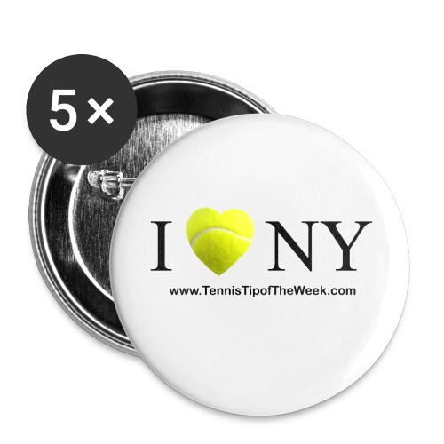I Love(tennis) NY button - Large Buttons