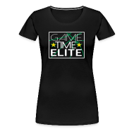 Women's T-Shirts ~ Women's Premium T-Shirt ~ Game Time Elite black