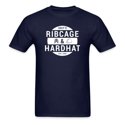Rib Cage & Hard Hat (Men's) - Men's T-Shirt