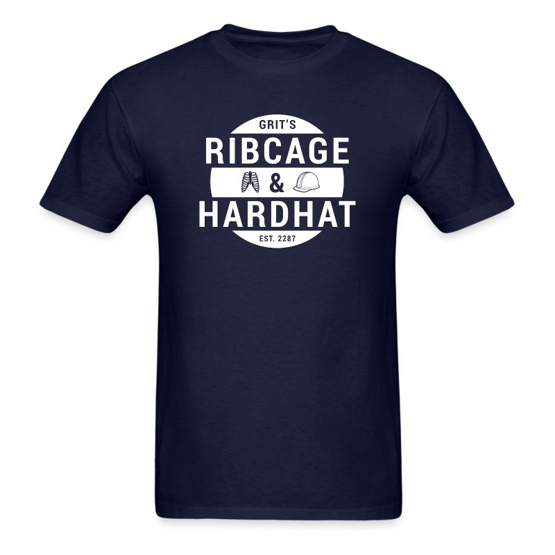 Rib Cage & Hard Hat (Men's) - Men's T-Shirt