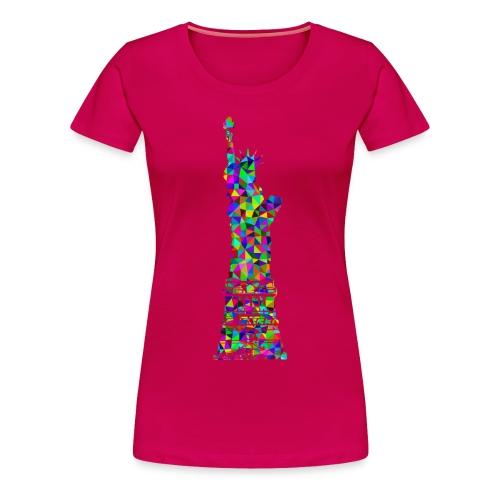 Women's Statue of Liber-T (Dark Pink) - Women's Premium T-Shirt