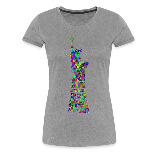 Women's Statue of Liber-T (Heather Gray) - Women's Premium T-Shirt