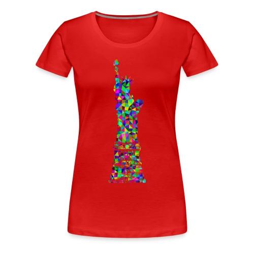 Women's Statue of Liber-T (Red) - Women's Premium T-Shirt