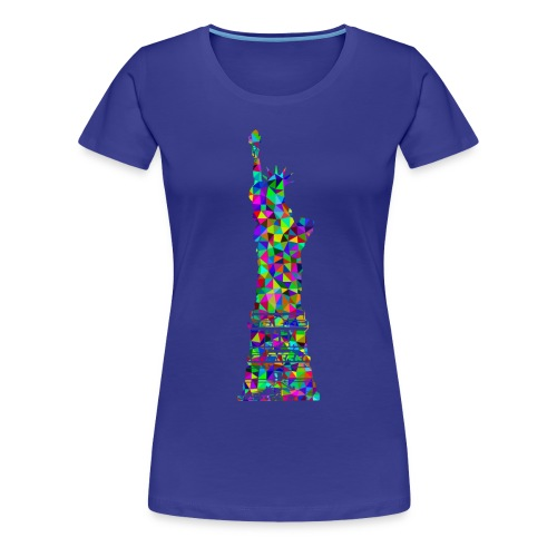 Women's Statue of Liber-T (Royal Blue) - Women's Premium T-Shirt