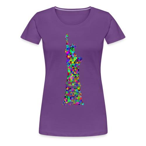 Women's Statue of Liber-T (Purple) - Women's Premium T-Shirt