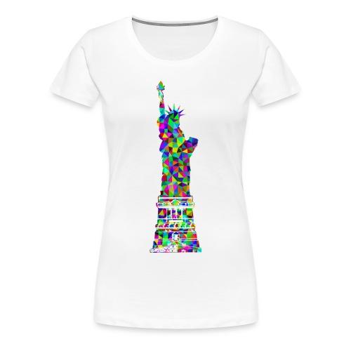Women's Statue of Liber-T (White) - Women's Premium T-Shirt