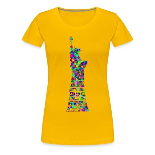 Women's Statue of Liber-T (Sun Yellow) - Women's Premium T-Shirt