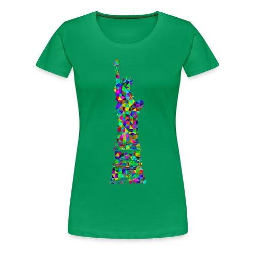 Women's Statue of Liber-T (Kelly Green) - Women's Premium T-Shirt