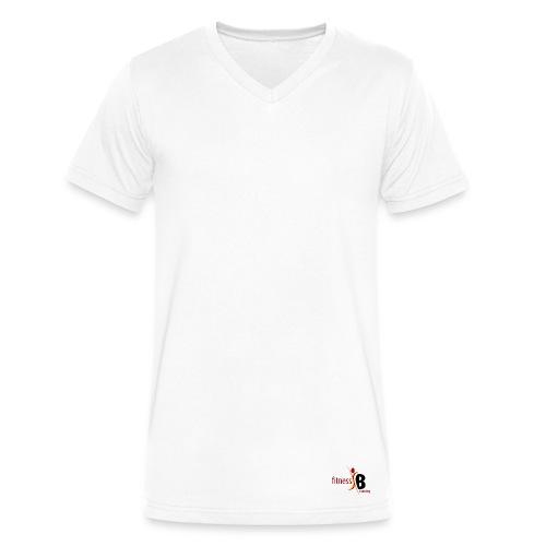 V Neck Discrete (Original) - Men's V-Neck T-Shirt by Canvas
