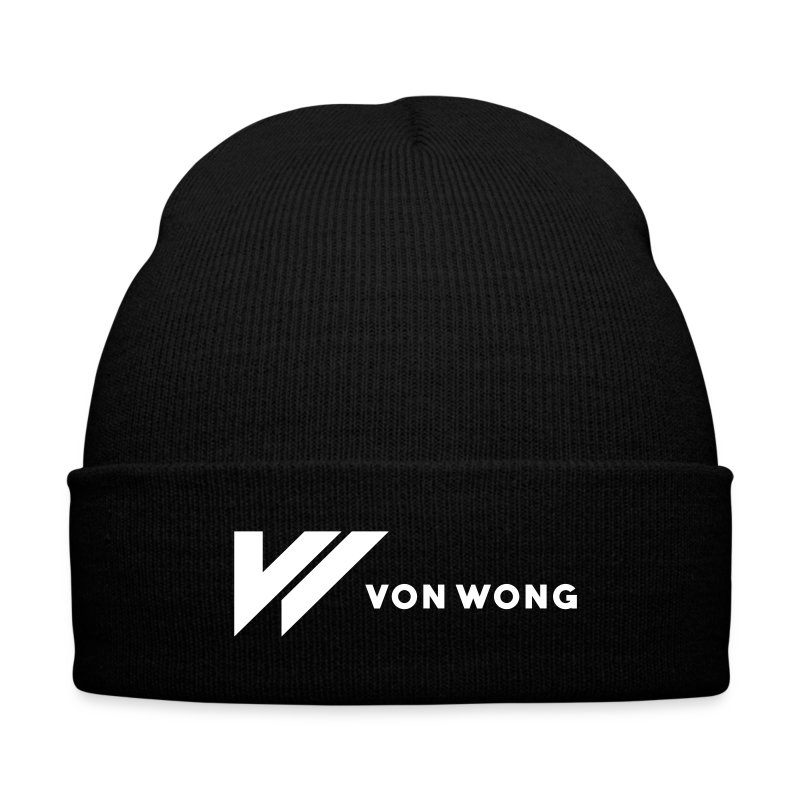 Von Wong v - Knit Cap with Cuff Print