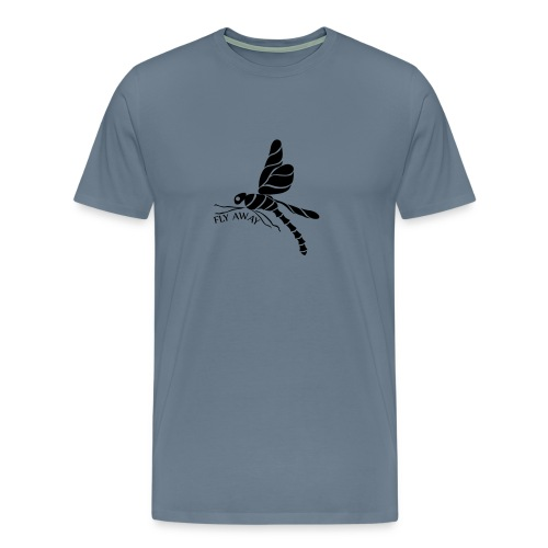 Fly Away Dragonfly Men's Premium T-Shirt - Men's Premium T-Shirt