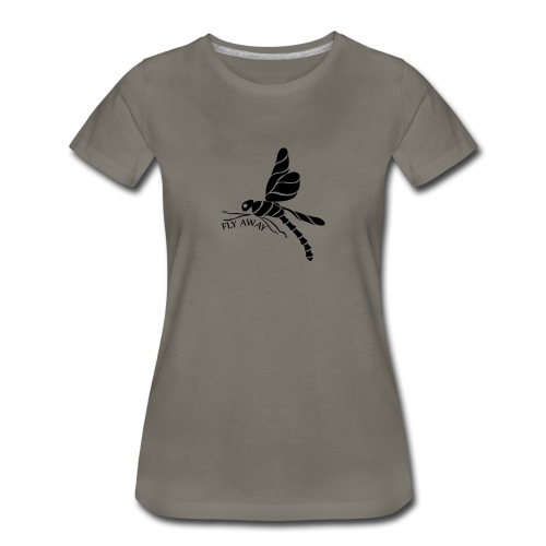 Fly Away Dragonfly Women's Premium T-Shirt - Women's Premium T-Shirt