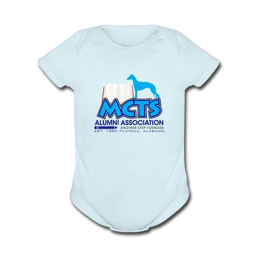 MCTS Alumni Baby Boy Whippets - Organic Short Sleeve Baby Bodysuit
