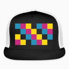 CMYK Square Trucker Hat