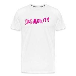 T-Shirt Lester with Dis-Ability in White (Men) - Men's Premium T-Shirt