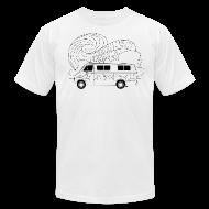 T-Shirts ~ Men's T-Shirt by American Apparel ~ Feynman Diagrams t-shirt   Richard Feynman's Van
