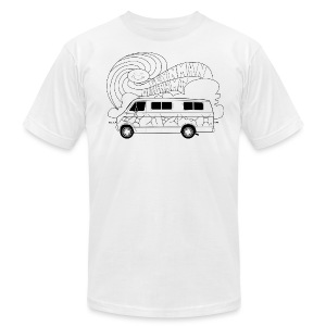 Feynman Diagrams t-shirt | Richard Feynman's Van - Men's T-Shirt by American Apparel