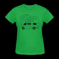 Women's T-Shirts ~ Women's T-Shirt ~ Feynman Diagrams t-shirt   Richard Feynman's Van