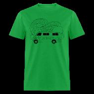 T-Shirts ~ Men's T-Shirt ~ Feynman Diagrams t-shirt   Richard Feynman's Van