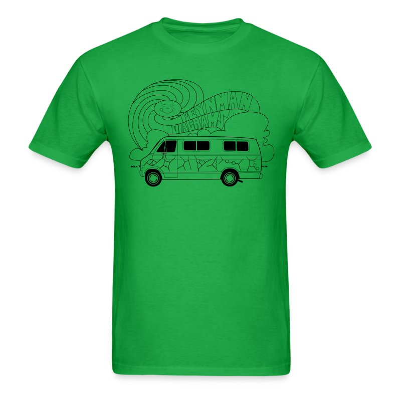 Feynman Diagrams t-shirt | Richard Feynman's Van - Men's T-Shirt