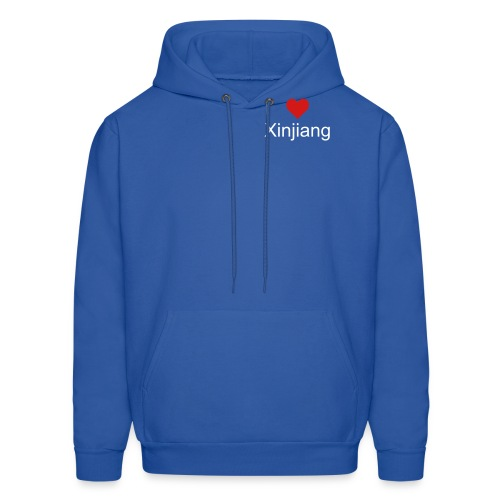 hoodie - adult  white/ red design on front and back - Men's Hoodie
