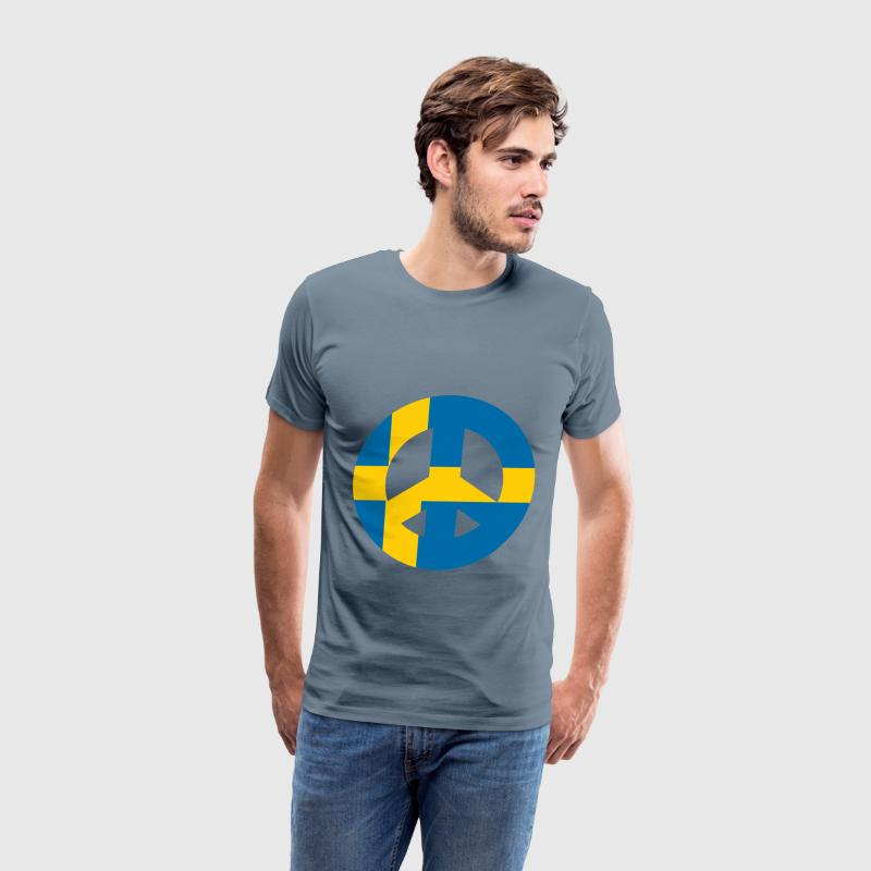 Swedish Peace Sign - Men's Premium T-Shirt