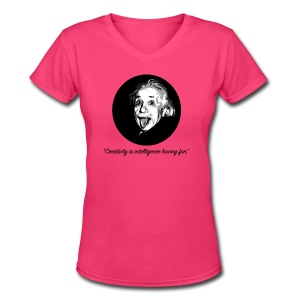 Einstein Creativity Quote - Women's V-Neck T-Shirt