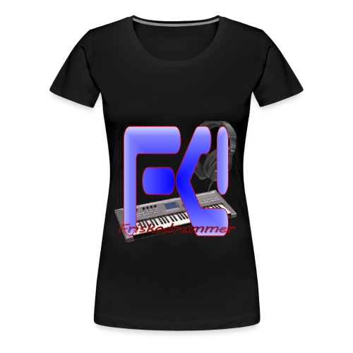 Black Friskodrummer Tee (Female) - Women's Premium T-Shirt