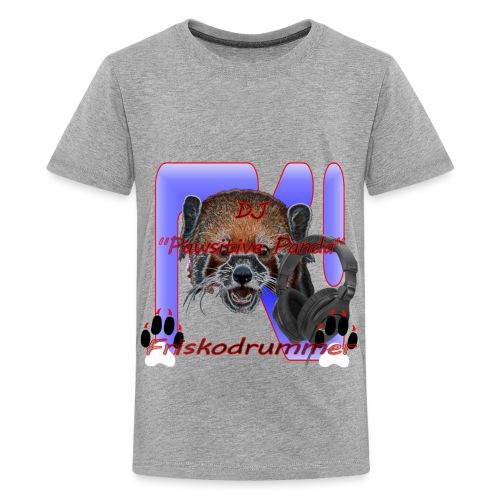 Gray DJ Pawsitive Panda Friskodrummer Tee (Kids) - Kids' Premium T-Shirt