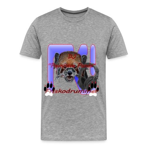 Gray DJ Pawsitive Panda Friskodrummer Tee (Male) - Men's Premium T-Shirt