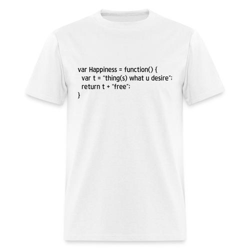 coding Tee - function Happiness - Men's T-Shirt