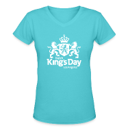 T-Shirts ~ Women's V-Neck T-Shirt ~ Dutch King's Day 2016