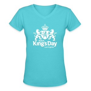 Dutch King's Day 2017 - Women's V-Neck T-Shirt