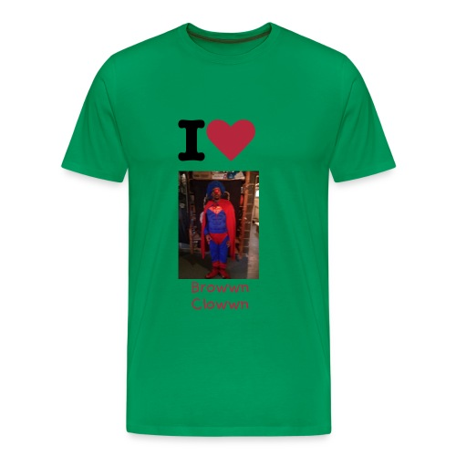 I love Browwn Clowwn - Men's Premium T-Shirt