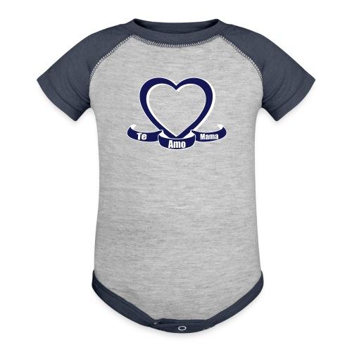 Te amo mama  - Contrast Baby Bodysuit