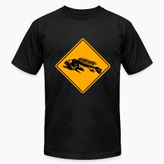 Fishing Road Sign T-Shirts