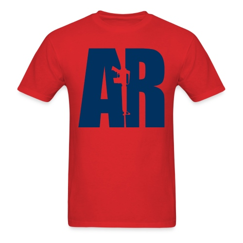 AR15 BLUE - Men's T-Shirt