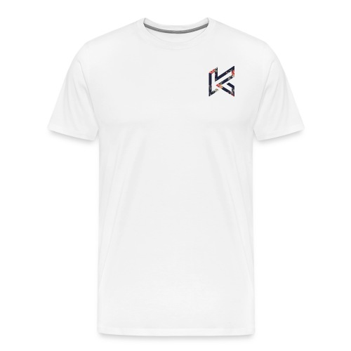 Black Floral Corner Logo - Men's Premium T-Shirt