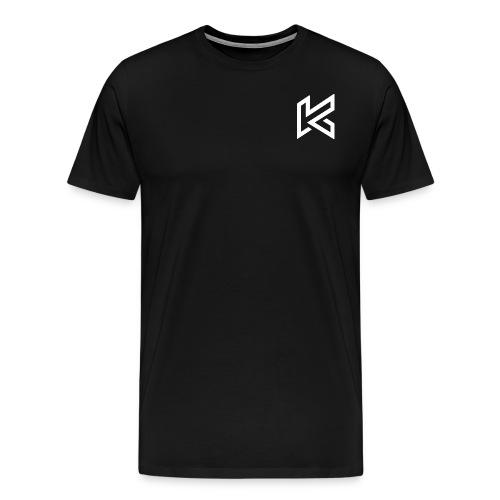 White Corner Logo - Men's Premium T-Shirt